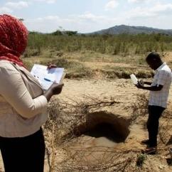 IHI team members taking water samples in Kondoa