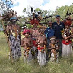 A/Prof Sammut with Warala Villagers