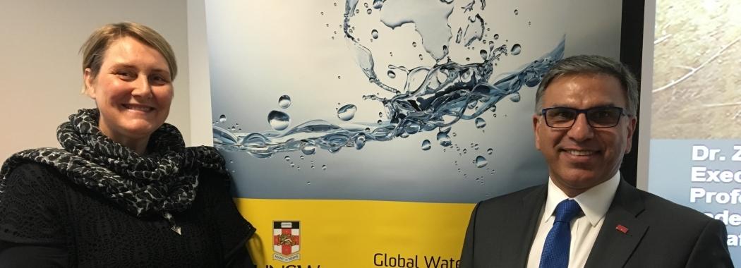 UNSW Global Water Institute - Susanne Schmeidl and Zafaar Adeel