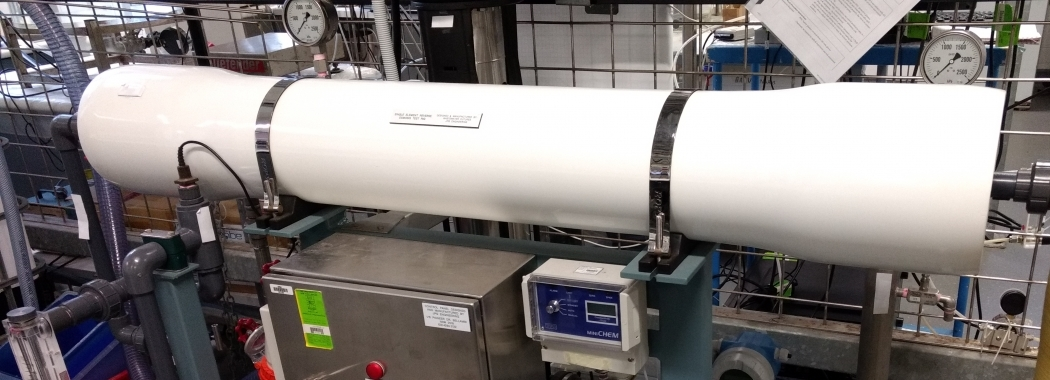 Spiral-wound reverse osmosis module test rig - Global water institute