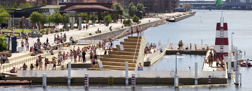 Harbour baths in Copenhagen – Pioneering city to transform their harbour into a swimming a destination. Credit: Nicolai Perjesi