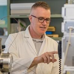 Denis O'Carroll in laboratory