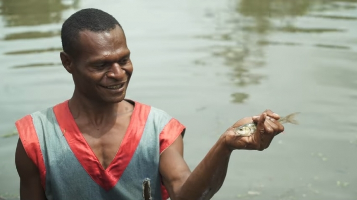 PNG local fish farmer