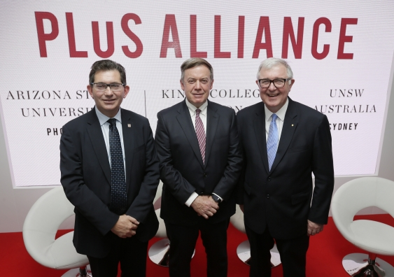 UNSW's Ian Jacobs, Michael Crow from ASU and King's Edward Byrne