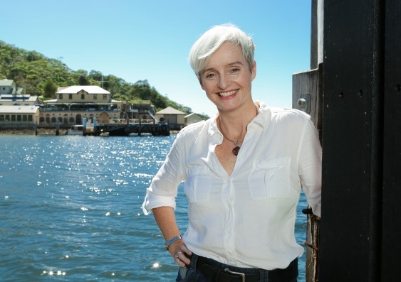 Professor Emma Johnston at the Sydney Institute of Marine Science, Chowder Bay. Photo by Dan White.