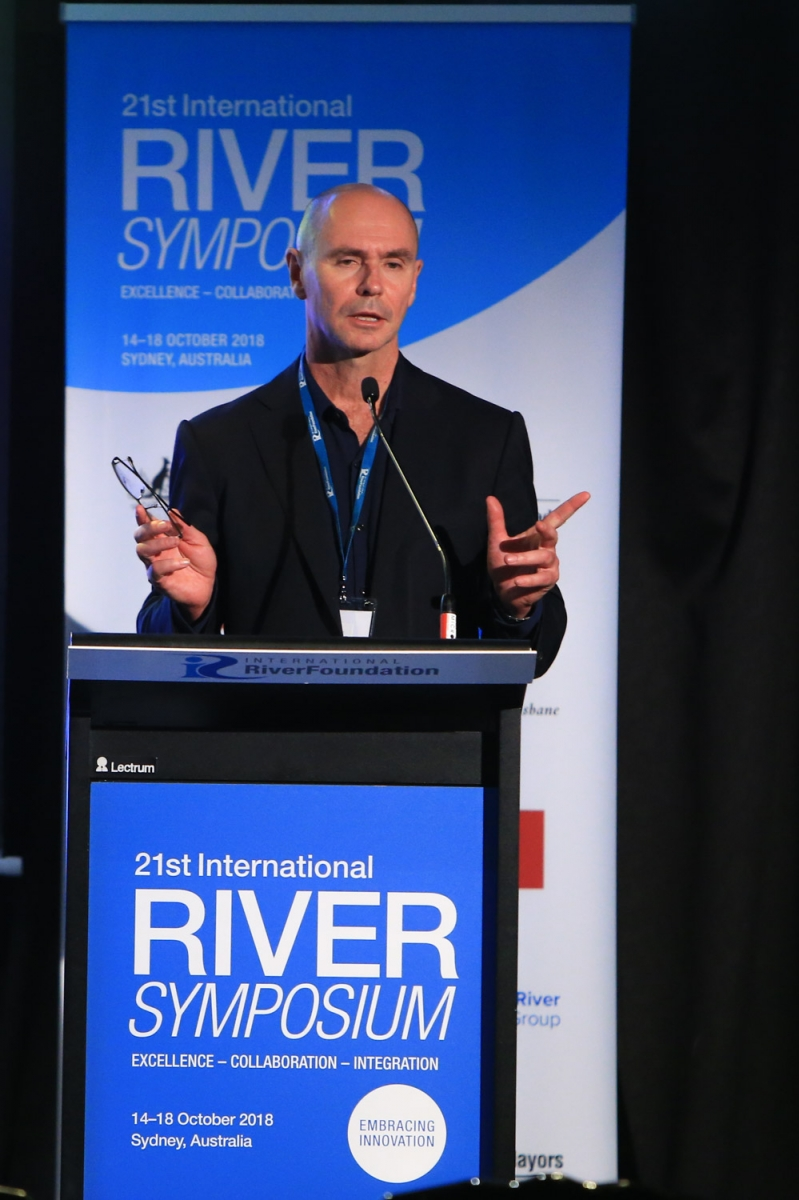 Prof Greg Leslie, UNSW Global Water Institute, presents at the 21st International Riversymposium
