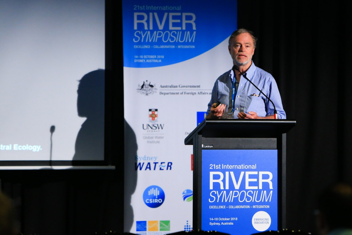 Prof Richard Kingsford, UNSW Centre for Ecosystem Science, presents at the 21st International Riversymposium