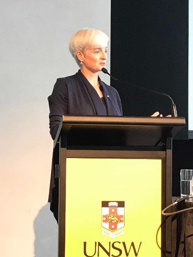 Prof Emma Johnston, UNSW Dean of Science, welcomes conference delegates