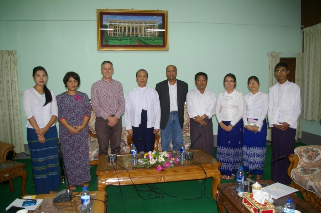 UNSW and YTU representatives meet in Myanmar