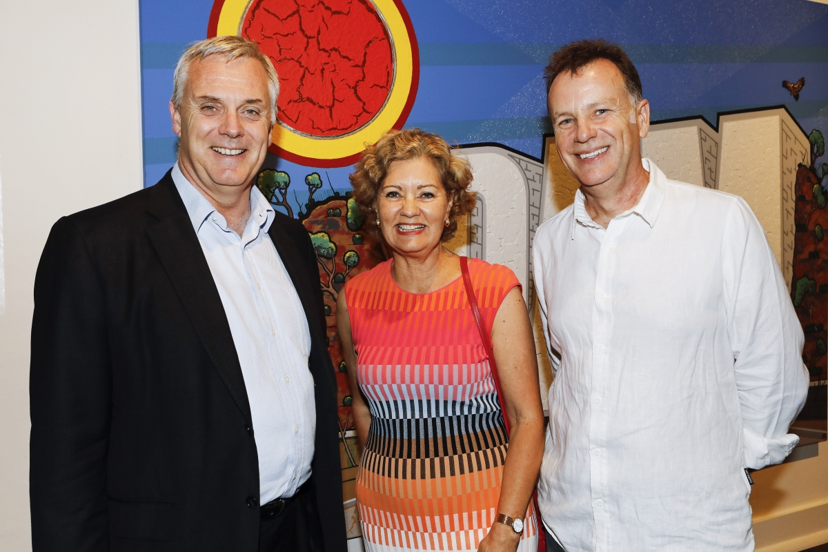 Mark Hoffman, Candy Bingham and Ian Turner at exhibition opening © Karen Watson