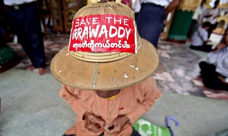 Save The Irrawaddy activist in Myanmar © Nyein Chan Naing/EPA