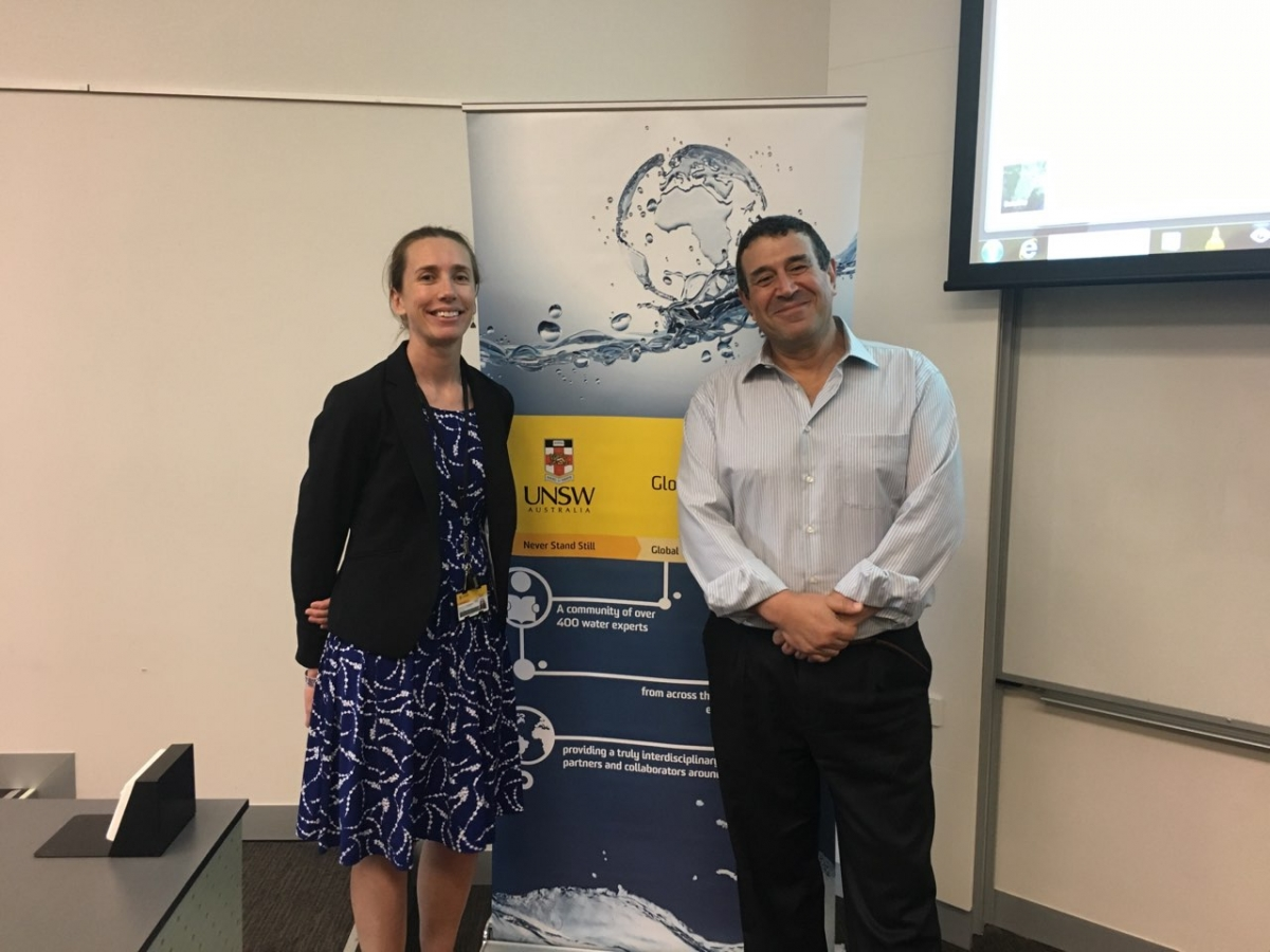 Prof Taha Ouarda, INRS-ETE and Dr Fiona Johnson, UNSW