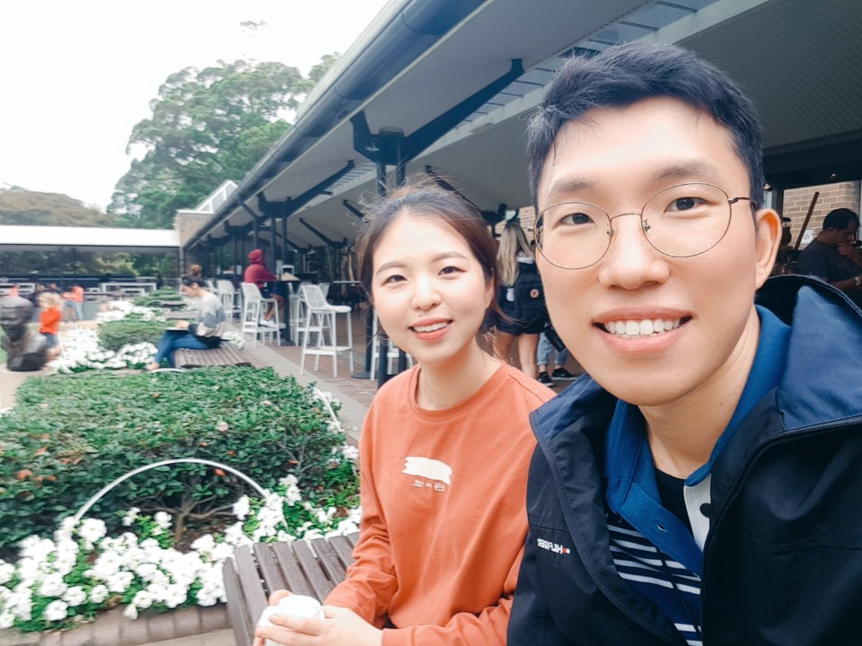 Hae Na Yoon and Youngil Kim, PhD students at UNSW